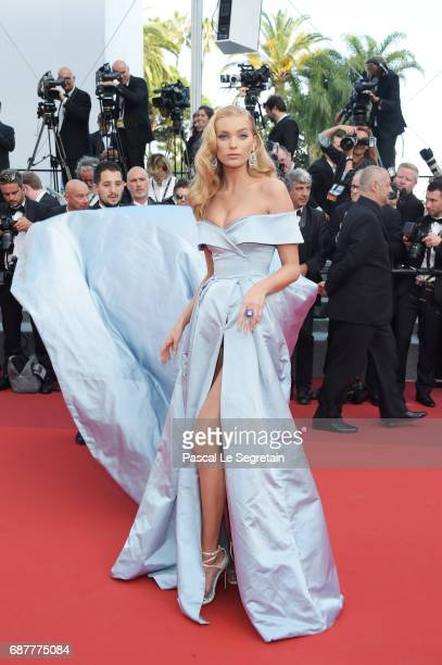 "Elsa Hosk attends the ""The Beguiled"" screening during the 70th annual Cannes Film Festival at Palais des Festivals on May 24, 2017 in Cannes, France."