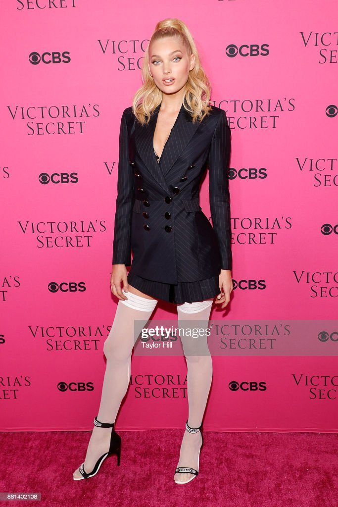 Elsa Hosk attends the Victoria's Secret Viewing Party Pink Carpet celebrating the 2017 Victoria's Secret Fashion Show in Shanghai at Spring Studios on November 28, 2017 in New York City.