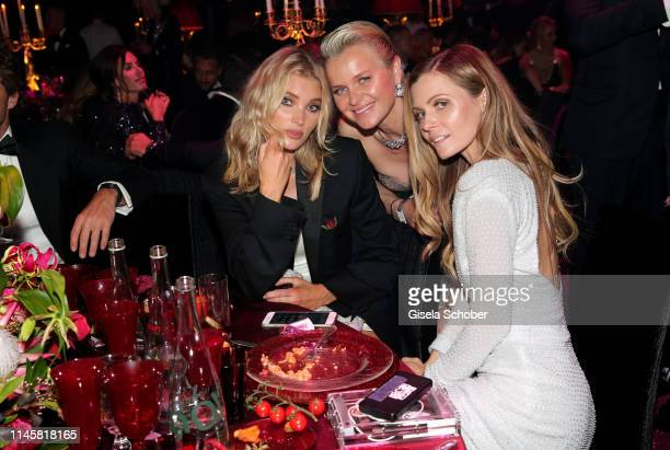 Elsa Hosk Dr Barbara Sturm and guest during the amfAR Cannes Gala 2019 at Hotel du CapEdenRoc on May 23 2019 in Cap d'Antibes France