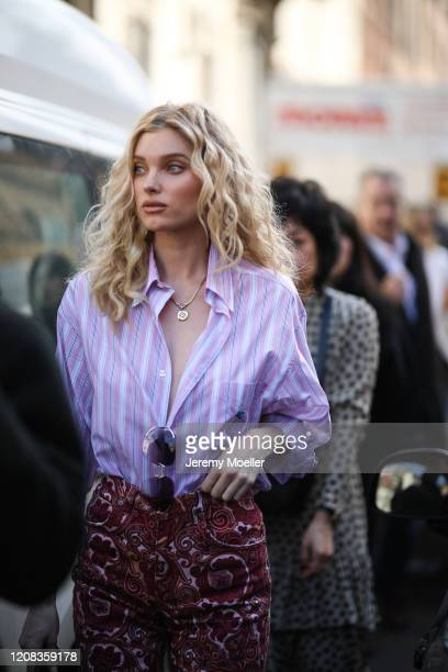 Elsa Hosk is seen before Etro during Milan Fashion Week Fall/Winter 20202021 on February 21 2020 in Milan Italy