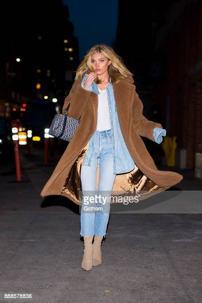 Elsa Hosk is seen in Chelsea on December 8 2017 in New York City