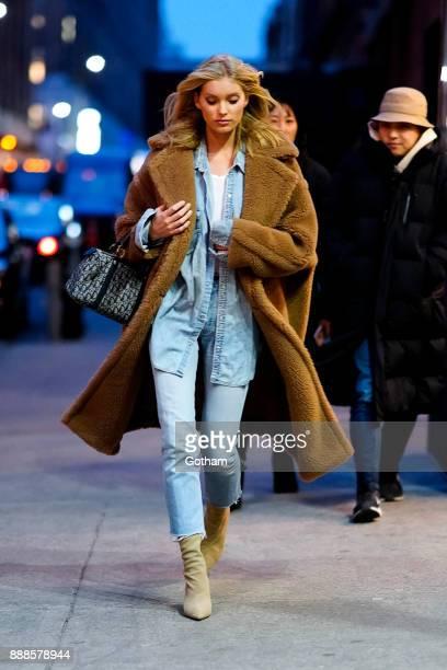 Elsa Hosk is seen in Chelsea on December 8 2017 in New York City