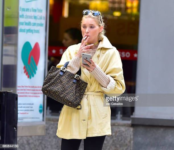 Elsa Hosk is seen in Midtown on May 9 2017 in New York City