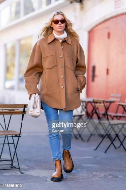 Elsa Hosk is seen in SoHo on November 14, 2020 in New York City.