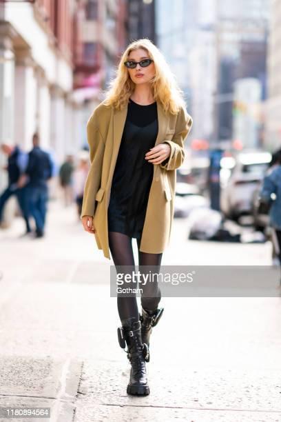 Elsa Hosk is seen in SoHo on October 13 2019 in New York City