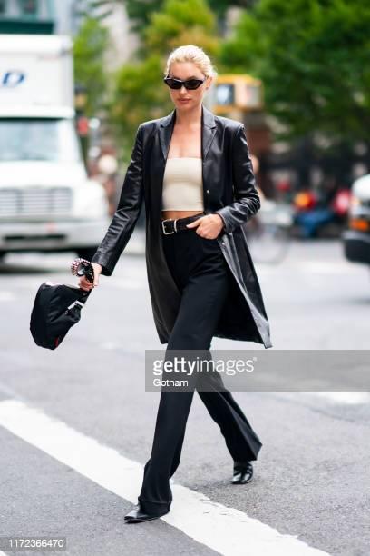 Elsa Hosk is seen in SoHo on September 04 2019 in New York City