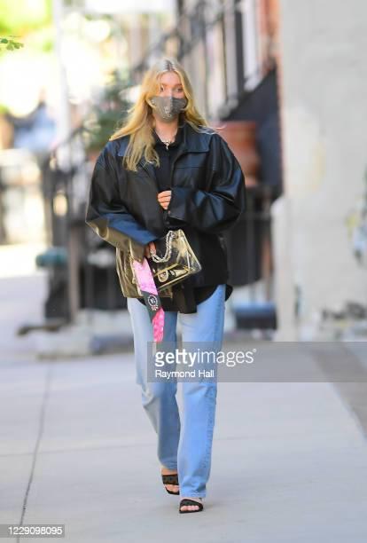 Elsa Hosk is seen is seen walking in soho on October 15, 2020 in New York City.
