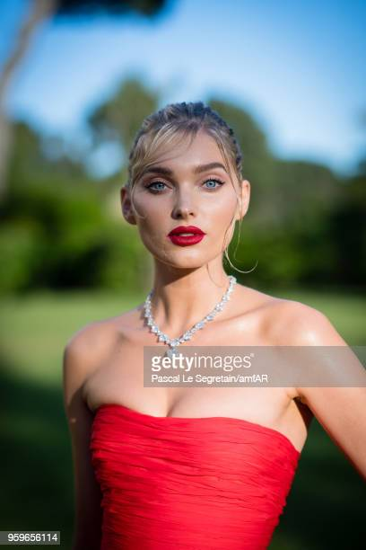 Elsa Hosk poses for portraits at the amfAR Gala Cannes 2018 cocktail at Hotel du CapEdenRoc on May 17 2018 in Cap d'Antibes France