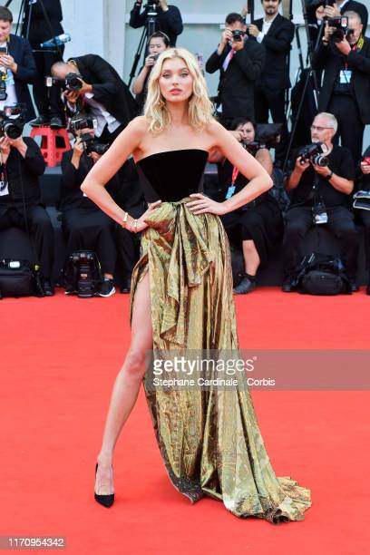Elsa Hosk walks the red carpet ahead of the Marriage Story screening during during the 76th Venice Film Festival at Sala Grande on August 29 2019 in...