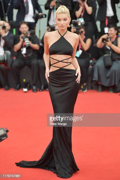 Elsa Hosk walks the red carpet ahead of the Opening Ceremony and the La Vérité screening during the 76th Venice Film Festival at Sala Grande on...