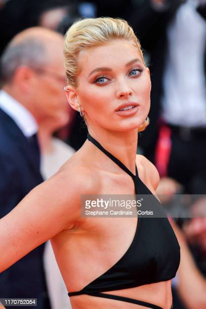 Elsa Hosk walks the red carpet ahead of the opening ceremony during the 76th Venice Film Festival at Sala Casino on August 28 2019 in Venice Italy