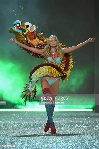Elsa Hosk walks the runway at the Victoria's Secret Fashion Show on November 30 2016 in Paris France