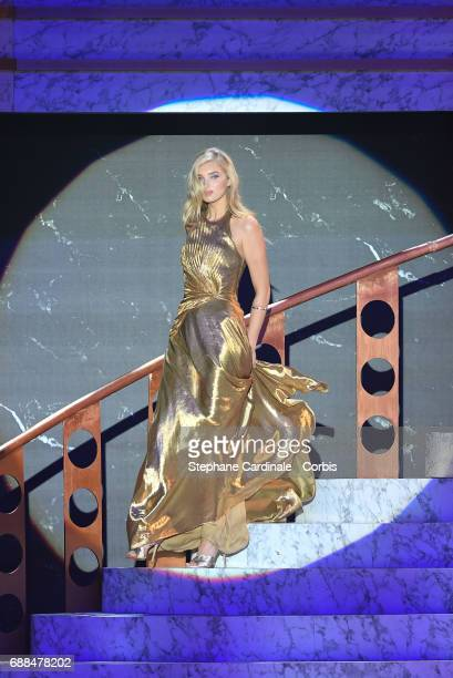 Elsa Hosk walks the runway during the amfAR Gala Cannes 2017 at Hotel du CapEdenRoc on May 25 2017 in Cap d'Antibes France
