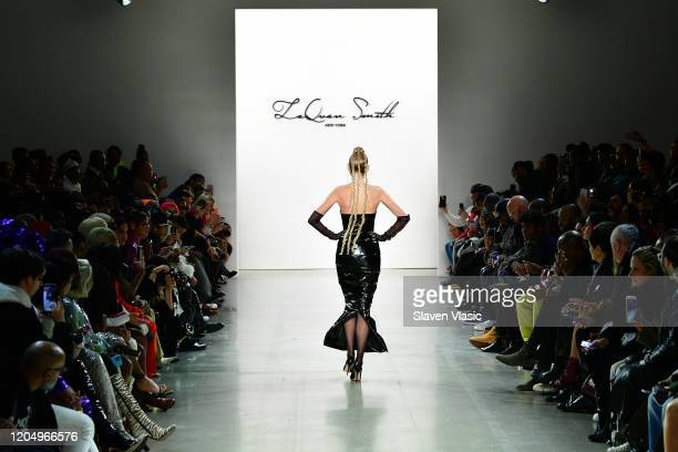 Elsa Hosk walks the runway for Jordache X LaQuan Smith during New York Fashion Week at Gallery II at Spring Studios on February 08 2020 in New York...