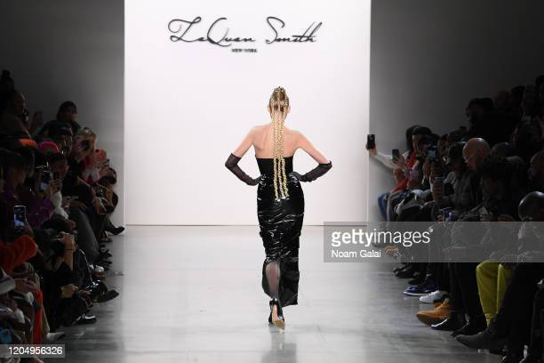 Elsa Hosk walks the runway for Laquan Smith during New York Fashion Week The Shows on February 08 2020 in New York City