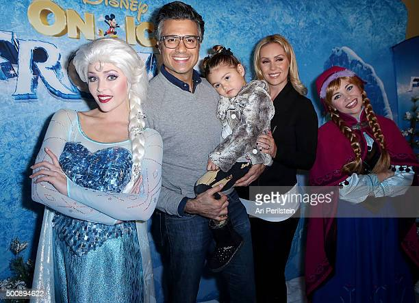 Elsa Jaime Camil Elena Camil Heidi Balvanera and Anna arrive at Disney On Ice Presents Frozen Los Angeles Premiere at Staples Center on December 10...