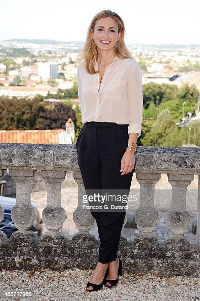 Elsa Julie Gayet attends a photocall during the 8th Angouleme FrenchSpeaking Film Festival on August 29 2015 in Angouleme France