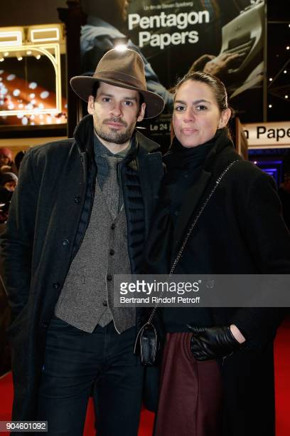Elsa Leeb and her friend attend the Pentagon Papers Paris Premiere at Cinema UGC Normandie on January 13 2018 in Paris France