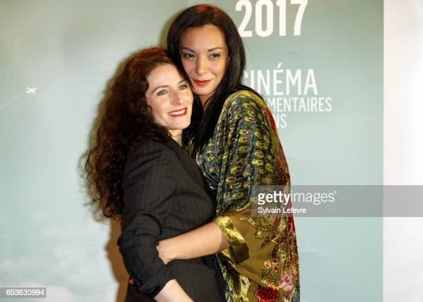 Elsa Lunghini and Loubna Abidar attends the 3rd day of Valenciennes Cinema Festival on March 15, 2017 in Valenciennes, France.