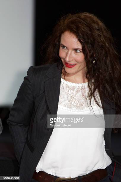 Elsa Lunghini attends attends opening ceremony of Valenciennes Cinema Festival on March 13 2017 in Valenciennes France