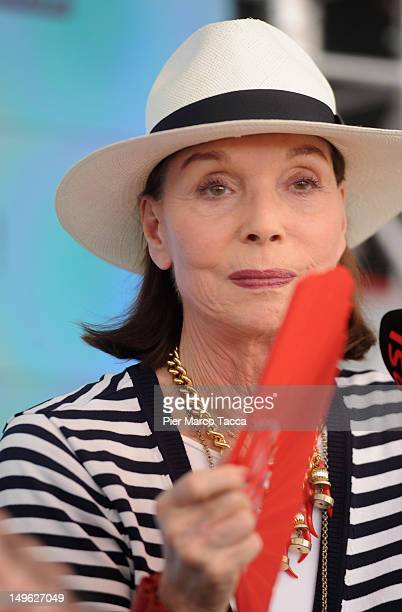 Elsa Martinelli attends a press conference on August 1 2012 in Locarno Switzerland