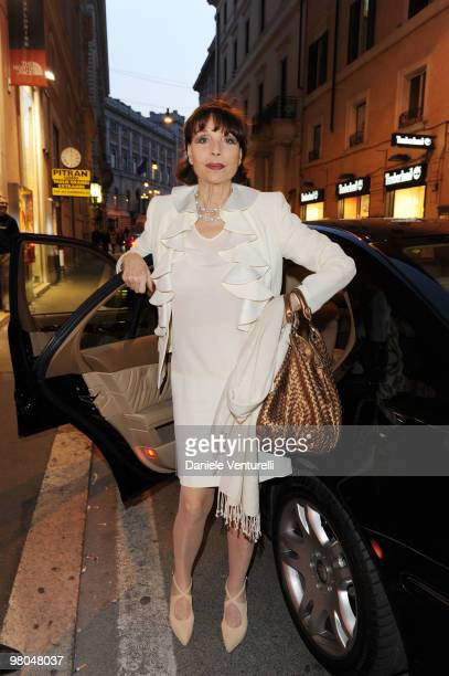Elsa Martinelli attends the opening of the ''Ester Maria Rivaroli'' flagship store on March 25 2010 in Rome Italy