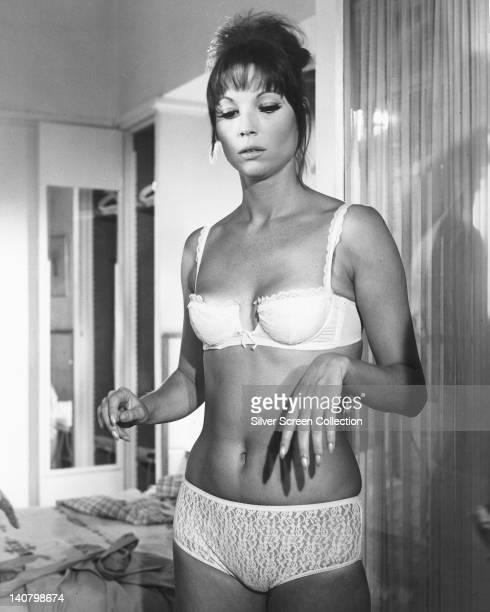 Elsa Martinelli Italian actress wearing a white underwear circa 1965