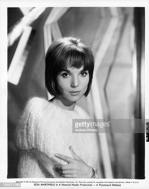 Elsa Martinelli publicity portrait for the film 'Hatari' 1962
