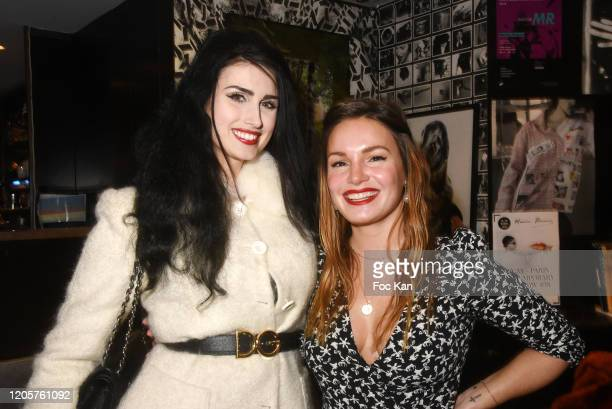 Elsa Oesinger and PR Chloe Chlor attend the Apero Catalan Hosted by Technikart And Grand Seigneur Magazines At Cafe Renoma on February 11 2020 in...