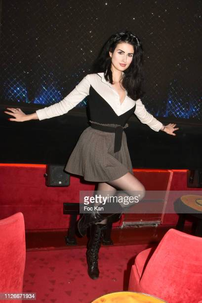 Elsa Oesinger attends the Jamais Assez Lolly Wish Show Case At Le Crazy Horse on January 31 2019 in Paris France