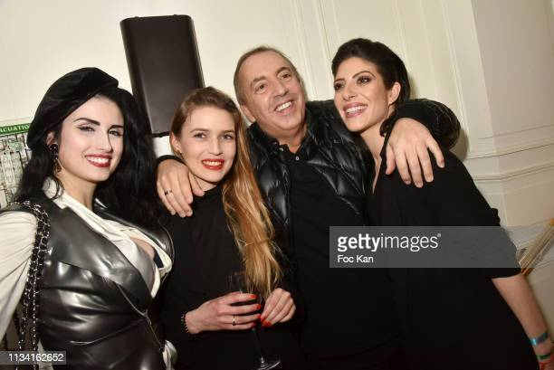 Elsa Oesinger Carole Duchene Jean Pierre Morandini and Celine Mori attend 'Femmes Fatales ' Mathieu Alterman Book Launch Party at Masha Club on March...