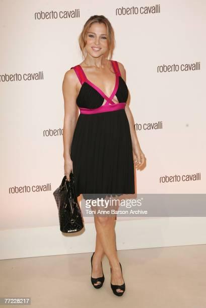 Elsa Pataki poses at the Roberto Cavalli Store Opening on Oct 4th 2007 in Paris