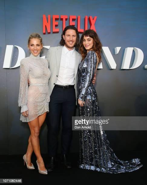 Elsa Pataky Aaron Jakubenko and Charlotte Best attend the premiere of the first Australian Netflix original series Tidelands on December 10 2018 in...