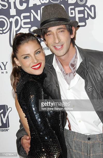 Elsa Pataky and Adrien Brody during 2006 MTV European Music Awards Copenhagen Inside Arrivals at Bella Centre in Cophenhagen Denmark