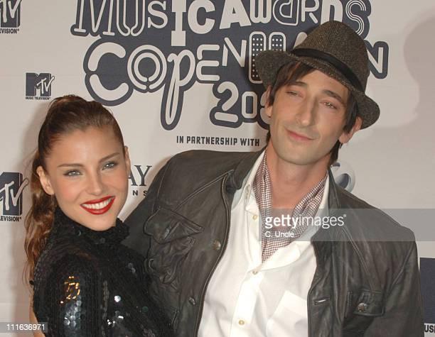 Elsa Pataky and Adrien Brody during 2006 MTV European Music Awards Copenhagen - Arrivals at Bella Centre in Copenhagen, Denmark.