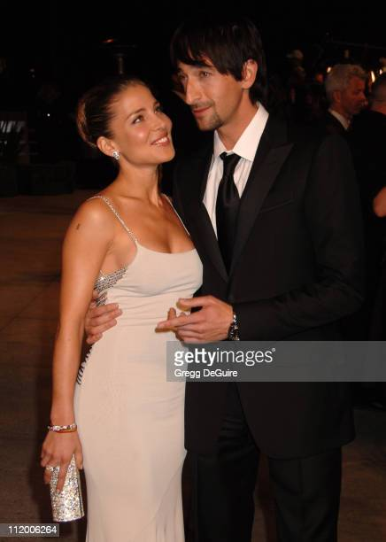 Elsa Pataky and Adrien Brody during 2007 Vanity Fair Oscar Party Hosted by Graydon Carter - Arrivals at Mortons in West Hollywood, California, United...