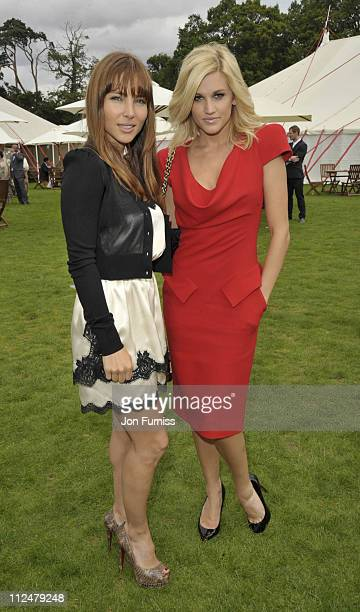 Elsa Pataky and Ashley Roberts at the Cartier Tent during the Cartier International Polo Day at Guards Polo Club on July 26 2009 in Egham England
