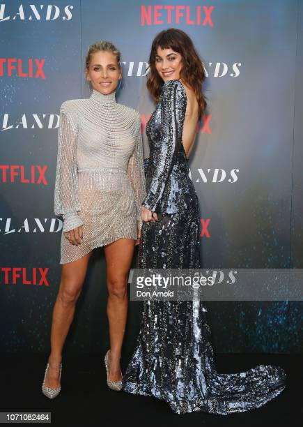 Elsa Pataky and Charlotte Best attend the premiere of the first Australian Netflix original series Tidelands on December 10 2018 in Sydney Australia