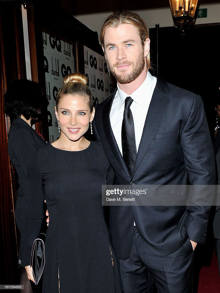 Elsa Pataky (L) and Chris Hemsworth arrive at the GQ Men Of The Year Awards 2012 at The Royal Opera House on September 4, 2012 in London, England.