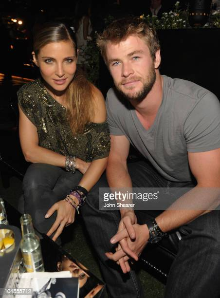 Elsa Pataky and Chris Hemsworth attend ARCADE Boutique Presents The Autumn Party at The London Hotel on September 29 2010 in West Hollywood California