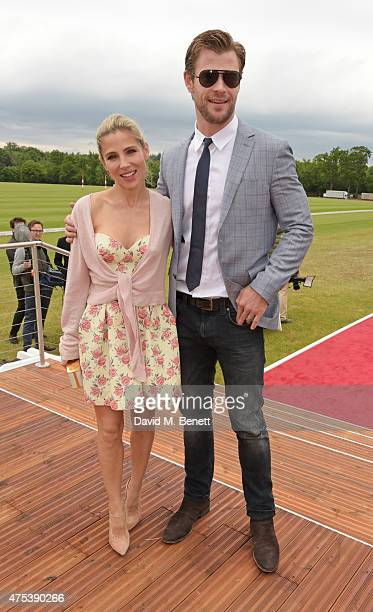 Elsa Pataky and Chris Hemsworth attend day two of the Audi Polo Challenge at Coworth Park on May 31 2015 in London England