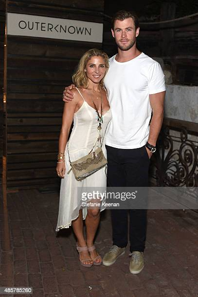 Elsa Pataky and Chris Hemsworth attend Kelly Slater John Moore and Friends Celebrate the Launch of Outerknown at Private Residence on August 29 2015...
