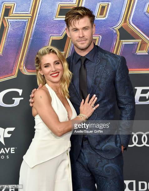 Elsa Pataky and Chris Hemsworth attend the World Premiere of Walt Disney Studios Motion Pictures 'Avengers Endgame' at Los Angeles Convention Center...