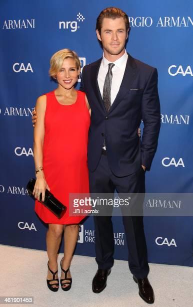 Elsa Pataky and Chris Hemsworth attends the Sean Penn 3rd Annual Help Haiti Home Gala Benefiting J/P HRO Presented By Giorgio Armani at Montage...