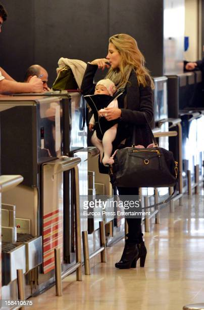 Elsa Pataky and her daughter India Rose Hemsworth are seen on November 29, 2012 in Madrid, Spain.