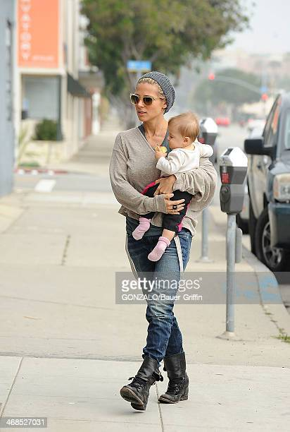 Elsa Pataky and her daughter India Rose Hemsworth are seen on March 16, 2013 in Los Angeles, California.