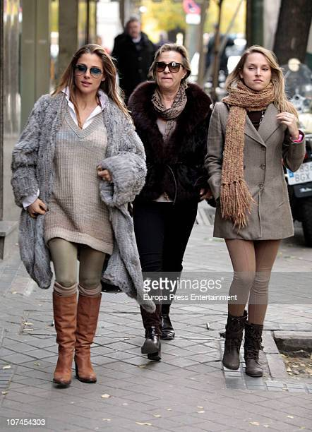 Elsa Pataky and her mother Cristina Pataky are seen sighting on December 9 2010 in Madrid Spain