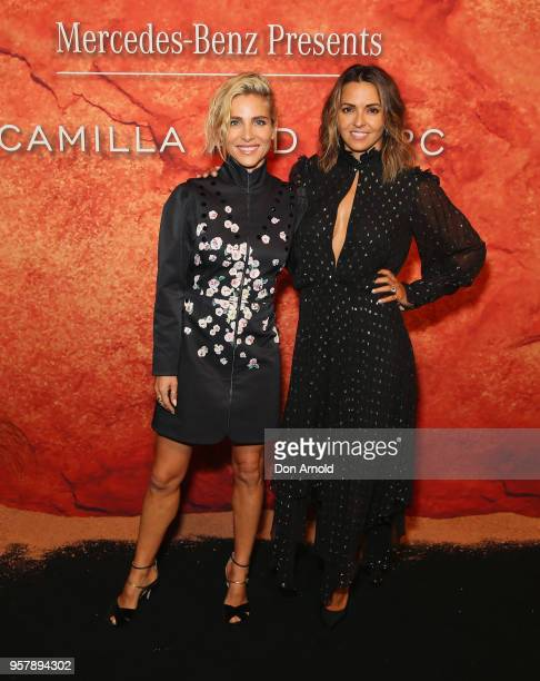 Elsa Pataky and Luciana Damon arrives for the MercedesBenz Presents Camilla And Marc show at MercedesBenz Fashion Week Resort 19 Collections at the...