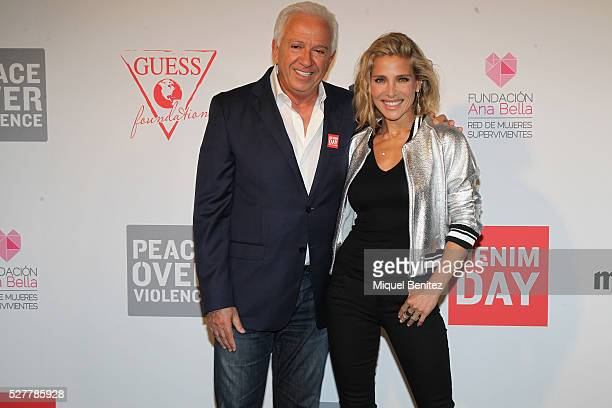Elsa Pataky and Paul Marciano attend the Guess Foundation Denim Day Charity at Salt Restaurant W Hotel on May 3 2016 in Barcelona Spain