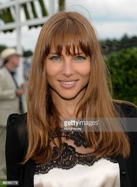 Elsa Pataky at the Cartier tent during the Cartier Internaional Polo Day at Guards Polo Club on July 26 2009 in Egham England
